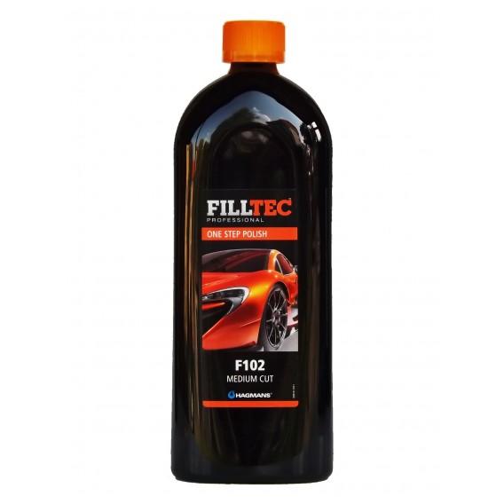 Autokosmetika FILLTEC Professional F102 One Step Polish | Středně hrubá brusná pasta | vzorek zdarma