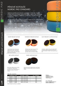 Brusné a leštící kotouče Nordic Pad Standard